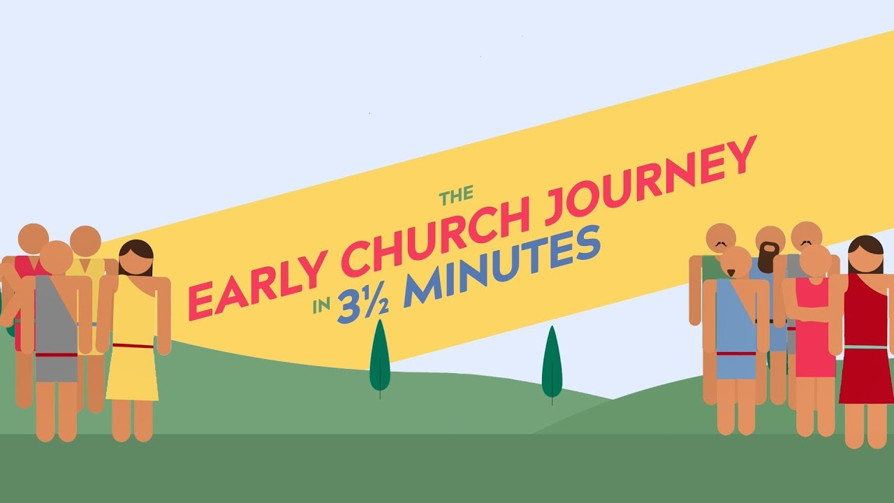The Early Church Journey in 3 ½ minutes.