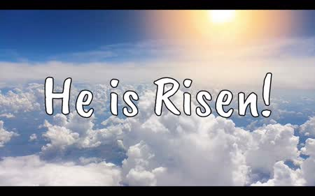 Easter – He Is Risen – Church Service Advert