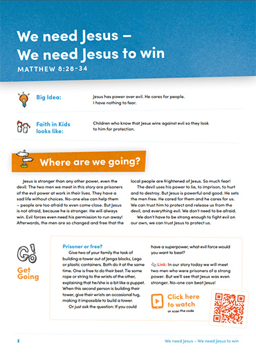 We Need Jesus to Win Lesson 5 Resource Image