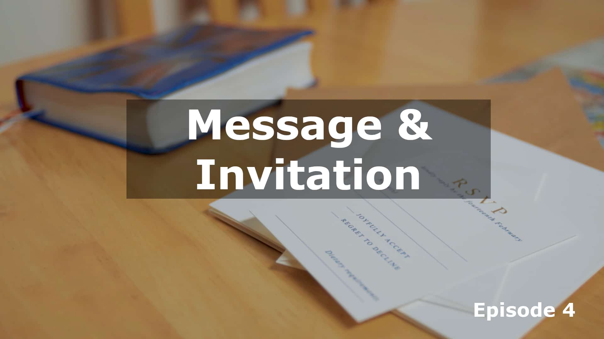 His Work Continues: Message & Invitation
