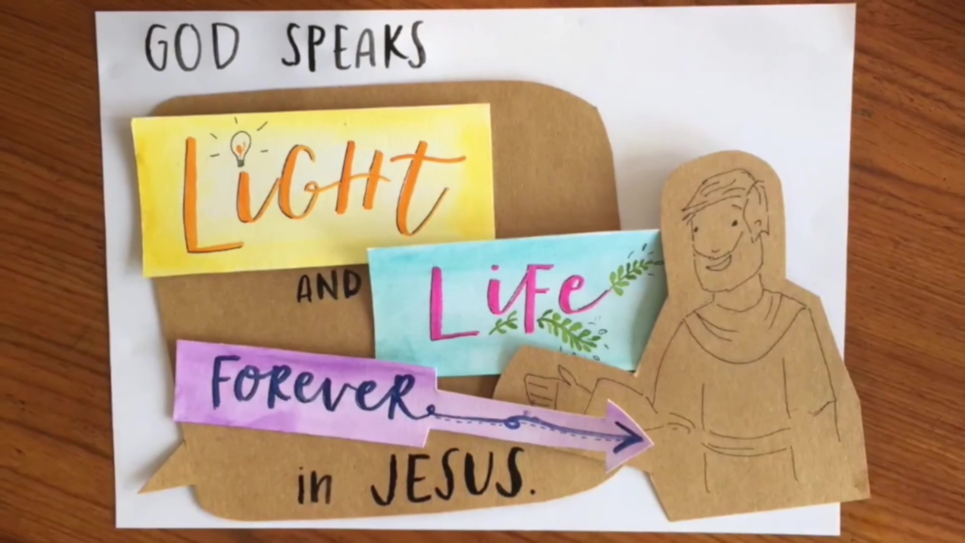 God Speaks Light and Life