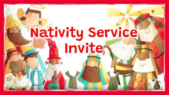 Nativity Service Invite