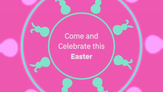Spinning Easter Invite